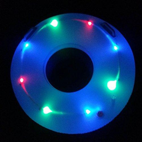 - Aklamater LED Lighted Inflatable Swimming Pool Rafts Swim Ring Inner Tube