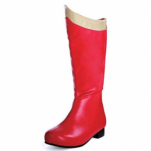 ELLIE 101 SUPER Girls Red/Gold Boots, Size -