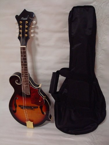 Ktone Hand Carved Solid Spruce Top F Style Mandolin, Free Gig Bag, Sunburst 5020SB