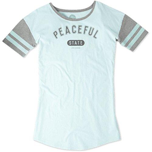 Life is good Women's Sleep Tee Dress, Small, Cool - Good Womens Tee Sleep