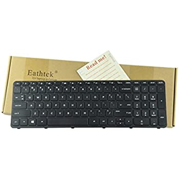 Eathtek Replacement Keyboard with Frame for HP Pavilion 15E 15N 15T 15-N 15-E 15-E000 15-N000 15-N100 15T-E000 15T-N100 15-e087sr 708168-001 710248-001 ...