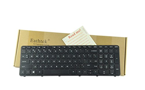 Eathtek Replacement Keyboard with Frame for HP Pavilion 15E 15N 15T 15-N 15-E 15-E000 15-N000 15-N100 15T-E000 15T-N100 15-e087sr 708168-001 710248-001 719853-001 749658-001 series Black US Layout