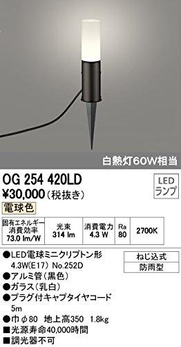 ODELIC(オーデリック) 【工事必要】 エクステリアグラウンドフロア LEDガーデンライト 黒色:OG254420LD B00L325SD8 12798