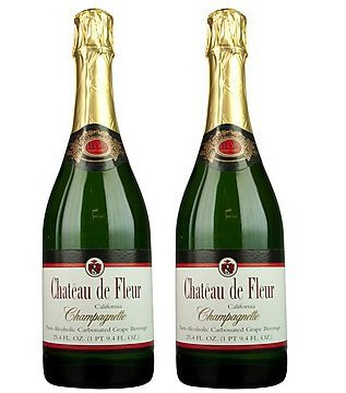 -alcoholic Sparkling Wine Champagne 2 Pack (Chateau Cocktail)