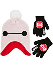 Disney boys Big Hero 6 Hat and Gloves Cold Weather Set Winter Accessory Set Age 4-7