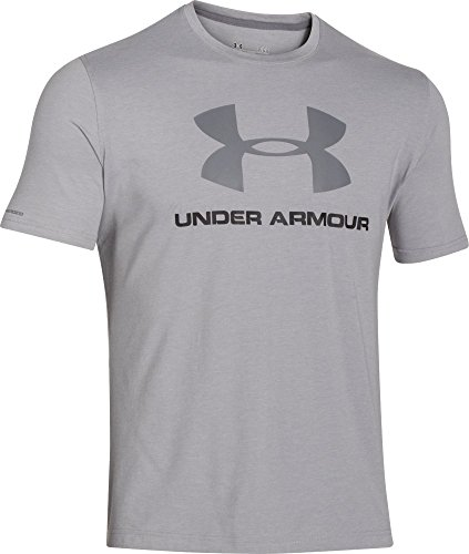 888376049904 - Under Armour Men's Sportstyle Logo T-Shirt, True Gray Heather/Black, XX-Large carousel main 0