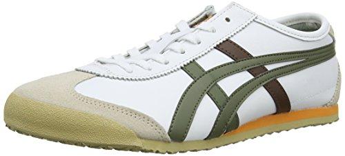 Multicolore Asics Olive Unisex 66 Basse da Sneakers Adulto Scarpe White Ginnastica 186 Mexico ZUTZz1
