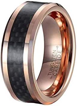 Unisex gold ring is made of tungsten and has an seal inside size 8