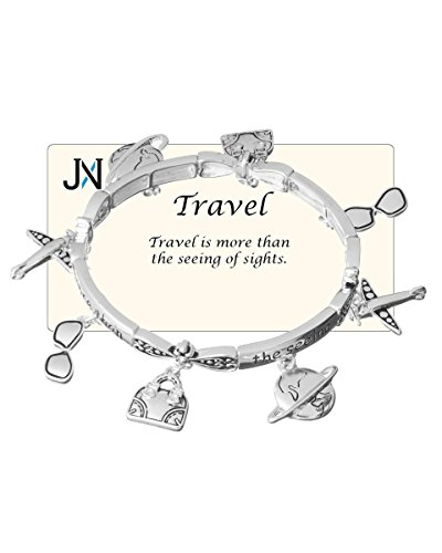 Jewelry Nexus Travel Theme Charm Bracelet Travel is more than the seeing of -