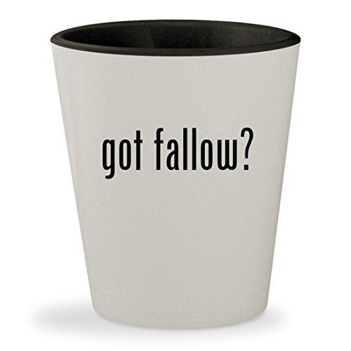 got fallow? - White Outer & Black Inner Ceramic 1.5oz Shot - Fallow Linda