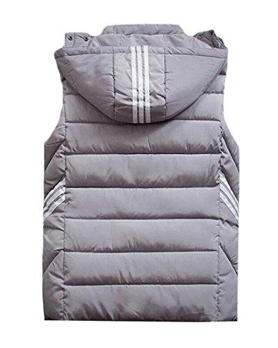 Quilted Hooded Outerwear Sports Vest Sleeveless Grey MK988 Mens twUqS8Z