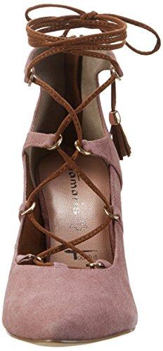 Tamaris Women's 24402 Closed Toe Heels Pink (Mauve/Cognac 530) 6MgtENJ