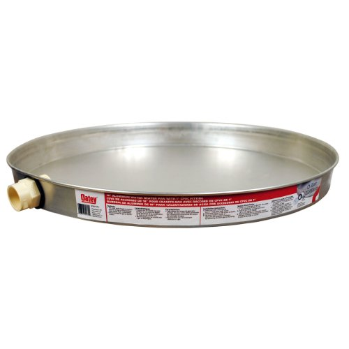 Oatey 34172 Aluminum Pan Bagged with 1-Inch CPVC Fitting, Pan without Pre-Drilled Hole, 22-Inch by Oatey (Image #2)