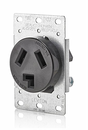 Leviton 5207 125/250V Flush Mount Receptacle (Range Receptacle Flush)