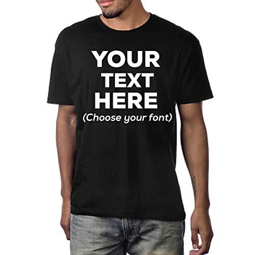 Custom T Shirts Design Your Own Customized Shirts | Personalized T Shirts Men or Women Unisex Soft Cotton (Black, X-Large)