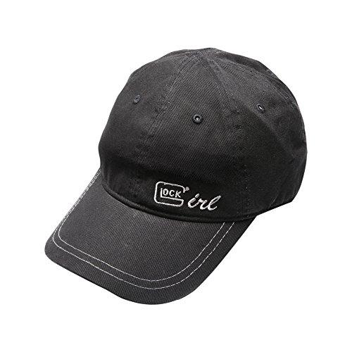 Glock OEM Girl Chino Hat, Black/Silver (Hat Glock)