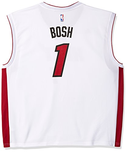 - NBA Men's Miami Heat Chris Bosh Replica Player Home Jersey, 3X-Large, White