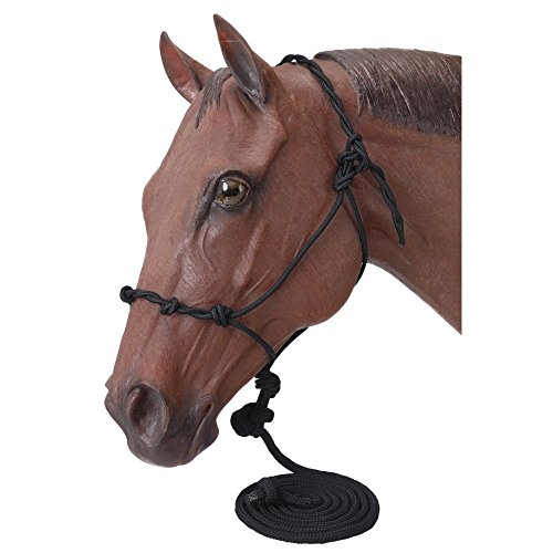 Tough 1 Horse Training Halter with 14 feet Lead Rope (Knotted Training Halter)