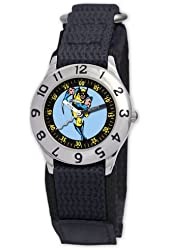 Marvel Kids' MA0103-D2824-BlackVelcro Marvel 'Wolverine' Classic Time Teacher Watch