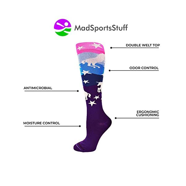 MadSportsStuff Neon Unicorn Socks Over The Calf 5