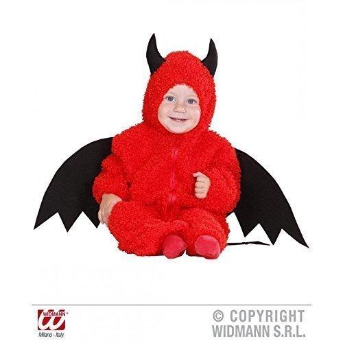 Kostüm Teufelchen Fuzzy - Kleinkinder Overall mit Kapuze in Gr. 80 lively moments