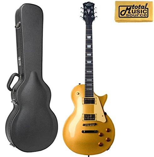 Oscar Schmidt OE20G LP Style Electric Guitar,Mahogany Body, Gold W/Hard Case
