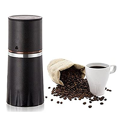 ZNZ Mini Espresso Maker, Manual Coffee Grinder, Coffee Filter Cup, Coffee Brewer, Portable Coffee Maker, All-in-One Coffee Machine Cup for Travel Home Gift from ZNZ