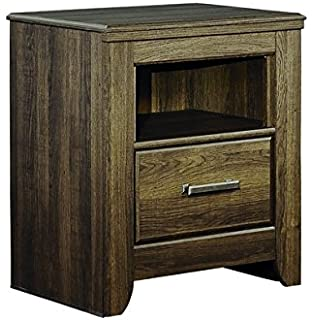 Ashley Furniture Signature Design   Juararo Nightstand   1 Drawer   Casual    Dark Brown