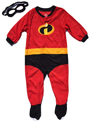 Disney Pixar Incredibles 2 Pajamas Infant Toddler Blanket Sleeper with Mask (3T)]()