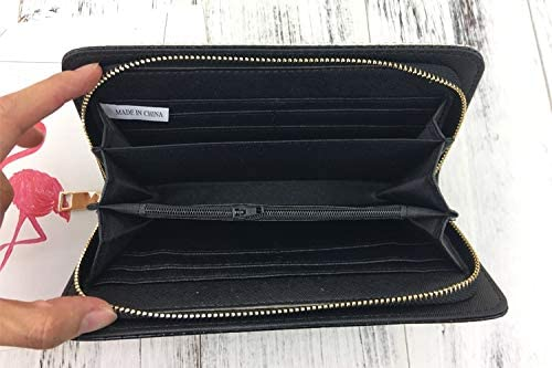 UltimaFio E Luxury Diamond Letter Color Crystal red Lip Pearl pu Leather Ladies Zipper Around Wallet Long Purse Card Holder Coin Bag Female