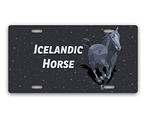 Makoroni - Icelandic Horse Horse Horses Aluminum Car License Plate (Icelandic License Plate)