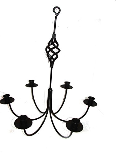 Wrought Iron 6 Arm Candle Chandelier w/ Bird Cage - Chandelier Holder