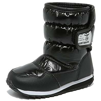 Amazon.com | HOBIBEAR Kids Winter Snow Boots Waterproof