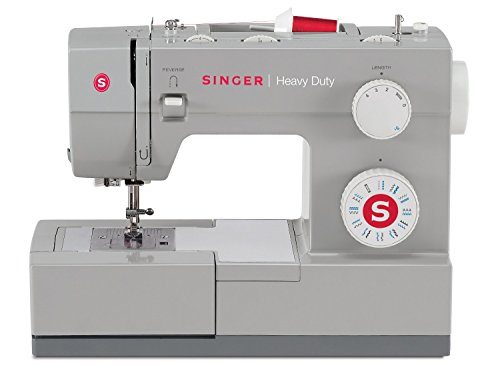 Singer Heavy Duty 4423 Sewing Machine with 23 Built-In Stitches -12 Decorative Stitches, 60% Stronger Motor & Automatic Needle Threader, Perfect for Sewing all Types of Fabrics with Ease Buttonhole Fabric