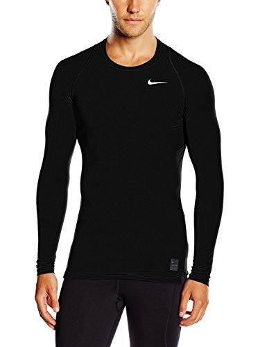 Nike Mens Pro Cool Compression Long Sleeve Shirt Black/Dark Grey/White 703088-011 Size Small