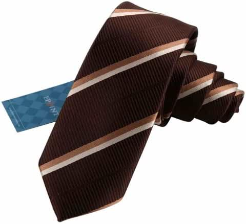 EAE1A04 Classic Mens Silk Stripes Slim Necktie Fitted Gift for Father By Epoint