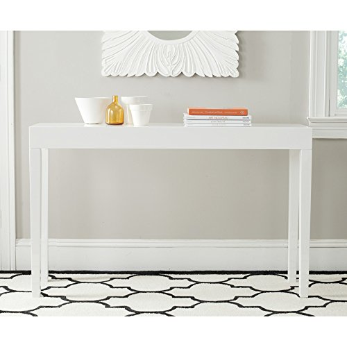 Safavieh Home Collection Kayson White Console Table (Table Console Parsons)