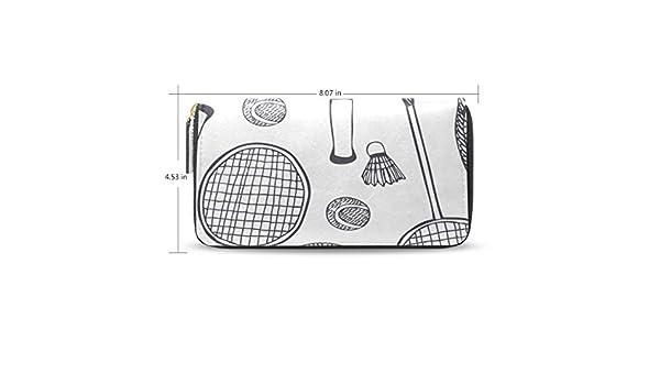 Badminton Racket And Tennis Racket Womens Long Wallet ...