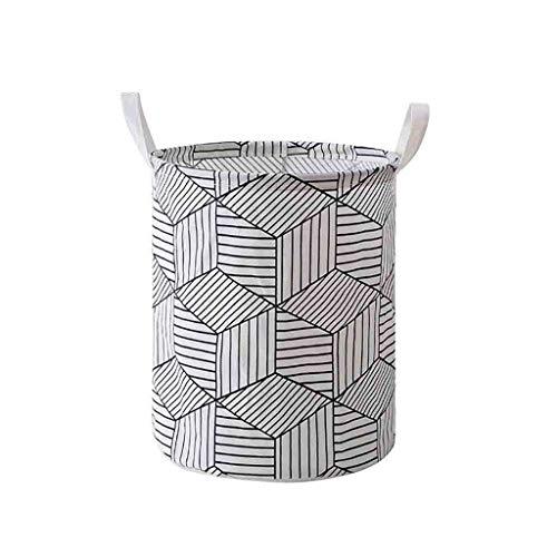 HankuLaundry Hamper Clothes Basket Cotton Waterproof Washing Bag Foldable Storage (A) ()