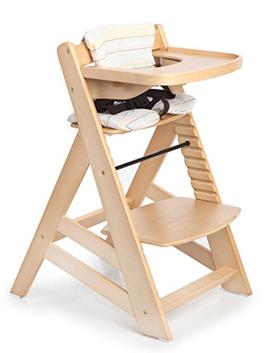 Lowest Prices! Sepnine Wooden Baby Highchairs with adjustable height and removeable tray 6561 (Natur...