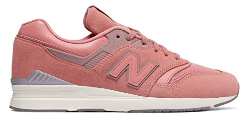 キャンディー沼地人工(ニューバランス) New Balance 靴?シューズ レディースライフスタイル Leather 697 Pink ピンク US 9 (26cm)