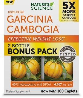 Natures Science 100% Pure Garcinia Cambogia 2 Bottle Bonus Pack
