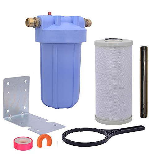 SharkBite 25300LF Install Kit All-In- All-In-One Whole-House Scale Preventer and Water Filter, Brass