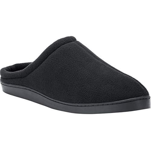 - KingSize Men's Big & Tall Fleece Clog Slippers, Black Big-9EW
