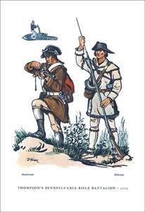 (Thompson's Pennsylvania Rifle Battalion, 1775 Fine Art Canvas Print)