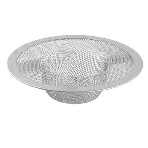 SODIAL(R) Kitchen Basket Drain Garbage Stopper Metal Mesh Sink (Metal Sink Strainer)