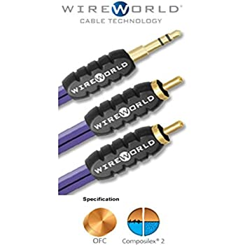 Amazon.com: WIREWORLD Pulse Mini Jack to 2 RCA Audio Cable - 1.0M ...