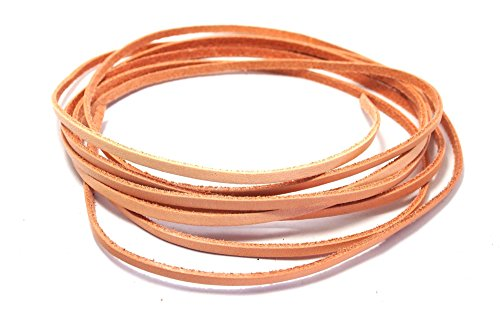 Tan Cowhide Leather (AstroG @ GL4 Veg Tan Cowhide Leather Strip Cord Small Size 0.3 x 200 cm)