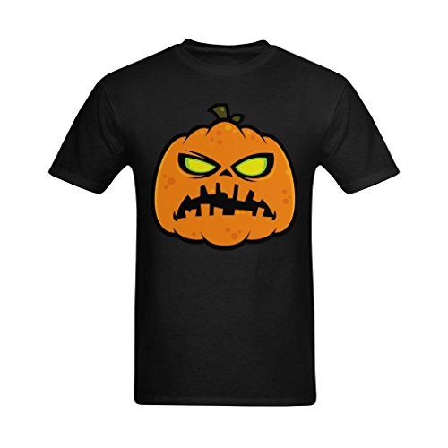 Whose Favor Men's Pumpkin Zombie Halloween Art Design T-Shirt - Funny Tshirt US Size Small]()