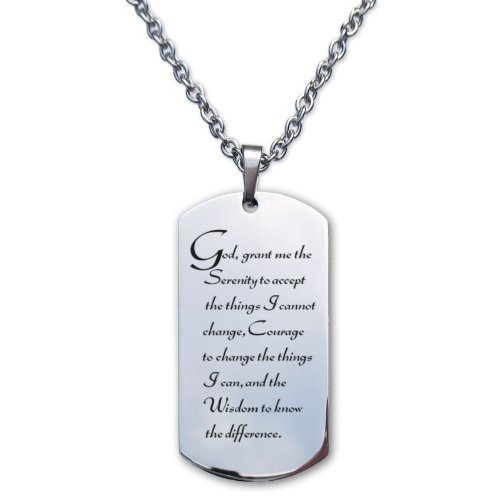 Serenity Prayer Stainless Designer Necklace product image